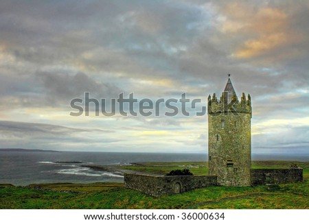 Doonagore castle - stock photo