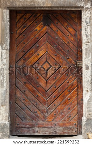 Door 1 - stock photo