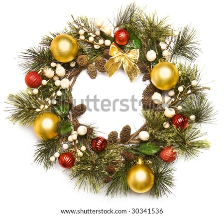 door decoration - stock photo