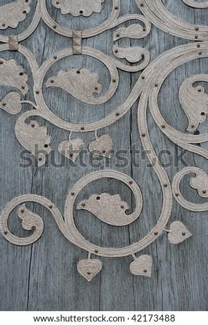 door decoration - stock photo