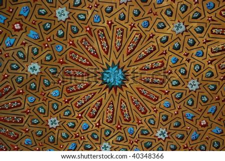 Door details in marrakech, Morocco - stock photo