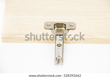 Door furniture on the white background - stock photo