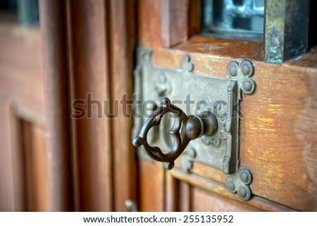Door Handle at Beaune, Hotel Dieu, France - stock photo