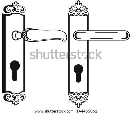 Рисунки дверных ручек