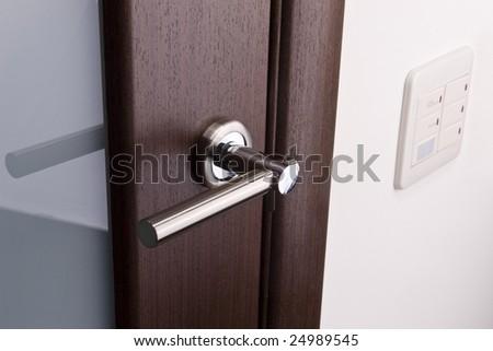 door handles and light switches - stock photo