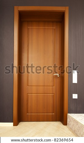 door in the room - stock photo