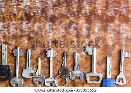 Door keys - stock photo