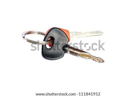 Door keys isolated on white background - House keys - stock photo