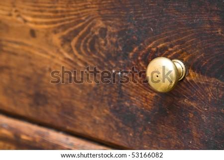Door knob macro - stock photo