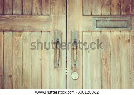 Door knob - vintage filter effect - stock photo