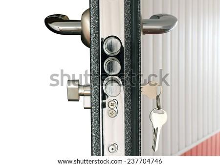 door lock - stock photo