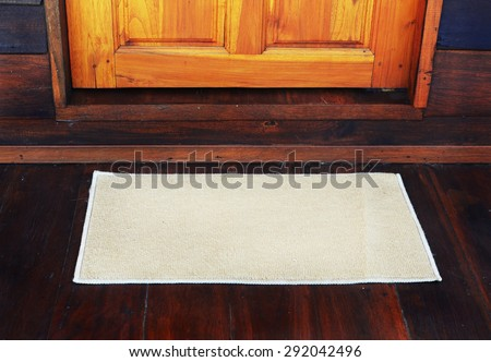 door mat - stock photo