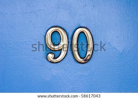 Door Number - stock photo