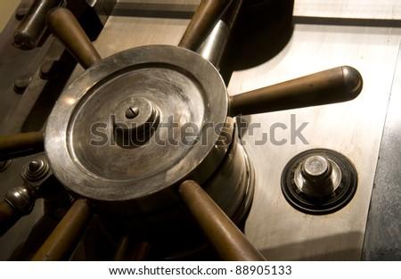 Door of a Safe in a bank Vault - stock photo