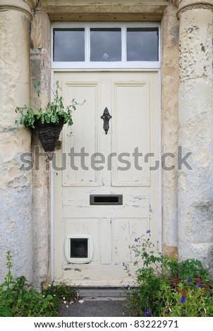 Door of an Old Georgian Town House - stock photo