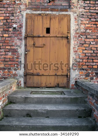 door of death in Auschwitz, concentration camp