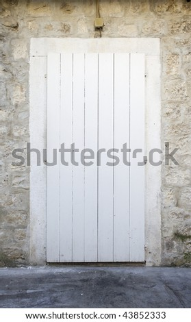 Door old and white - stock photo