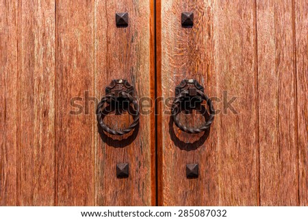 door, old, wooden, wood, antique, church, background, brown, doors, solid, design, metal, vintage, gate, style, historic - stock photo
