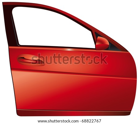 Door red car - stock photo