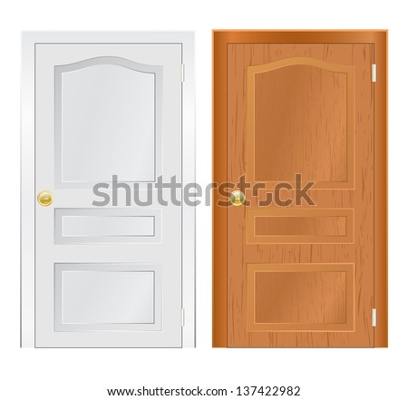 door wooden - stock photo