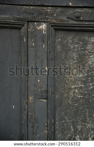 Door wooden black rough texture