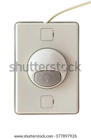 doorbell modern style isolate on white background.