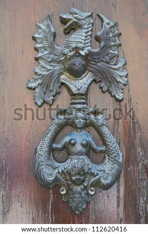 Doorknocker. Amelia. Umbria. Italy. - stock photo