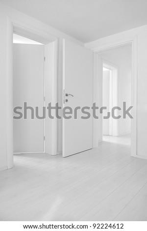 Doors and floors - stock photo