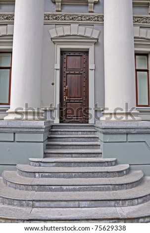doors and steps, building entrances - stock photo