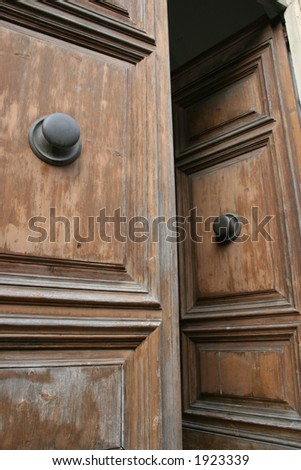 Doors in Pisa, Italy. - stock photo