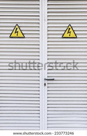 Doors symbol of danger, construction - stock photo
