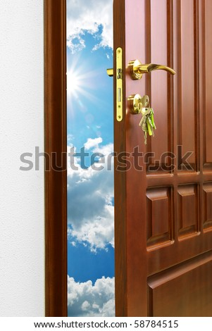 Doorway. Element of conceptual design. - stock photo