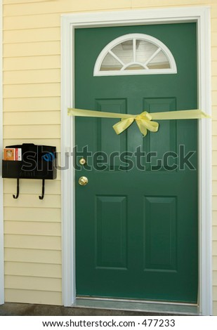 Doorway With Ribbon
