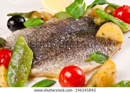 Dorado fish - stock photo