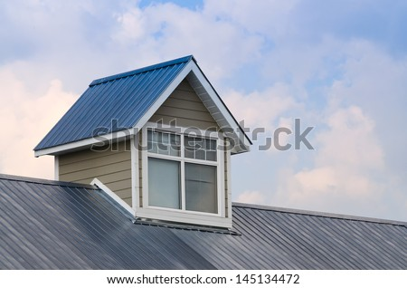 Dormer window / cupola on metal roof