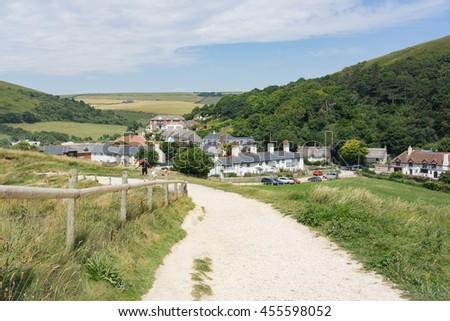 Dorset village life - stock photo