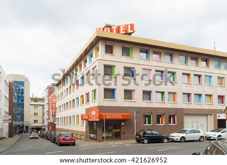 DORTMUND, GERMANY - OCTOBER 4, 2015: City hotel in Dortmund. With 580,000 inhabitants dortmund is the largest city in the Ruhr area - stock photo