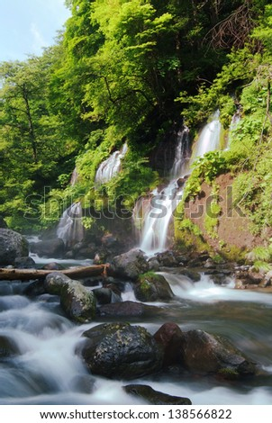 Doryunotaki fall and cascade