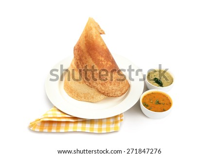 Dosa, South Indian snack - stock photo