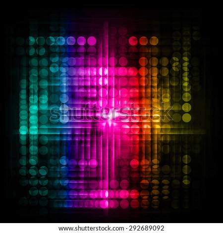 Dot background. Illustration. dark green pink yellow lights motion blur Abstract Background. wave. infographics. - stock photo