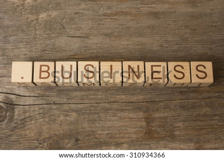 dot business - internet domain for business - stock photo