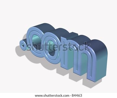 dot com symbol in 3d - stock photo