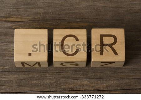 dot cr - internet domain for Costa Rica - stock photo