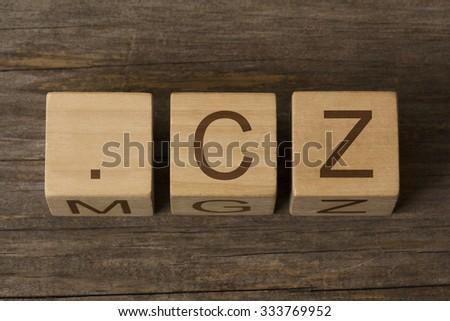 dot cz - internet domain for Czech Republic - stock photo