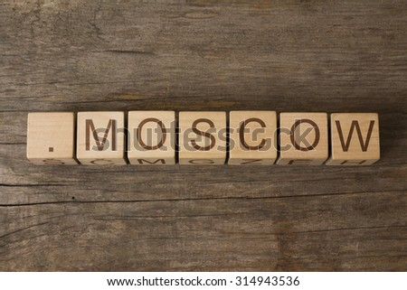 dot Moscow - a community-based sponsored top-level domain for Moscow - stock photo