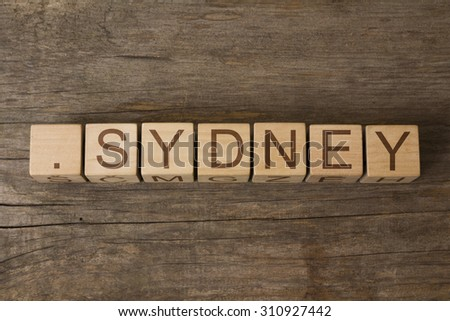 dot Sydney - domain name provides a dedicated space online for individuals and businesses - stock photo