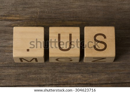 dot us - internet domain for United States - stock photo