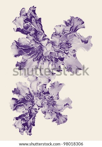 Dotted Flowers - stock photo