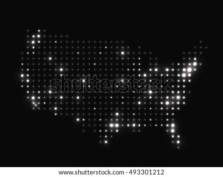 Us Population Stock Images RoyaltyFree Images Vectors - Us at night map