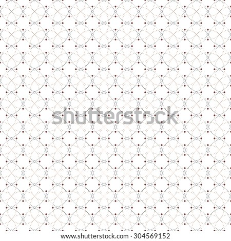 Dotted pattern with circles and nodes. Repeating modern stylish geometric background. Simple abstract monochrome texture
